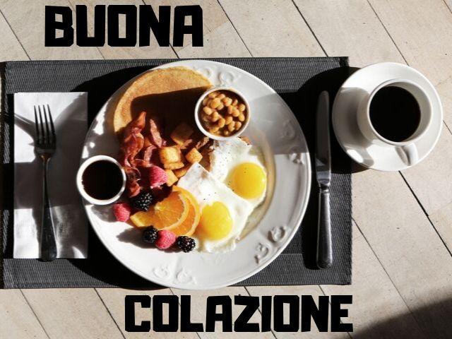 buona colazione a tutti