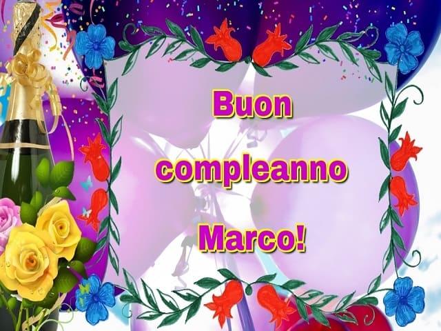 Auguri compleanno Marco