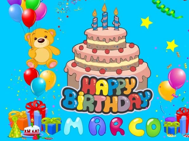 Auguri di buon compleanno Marco