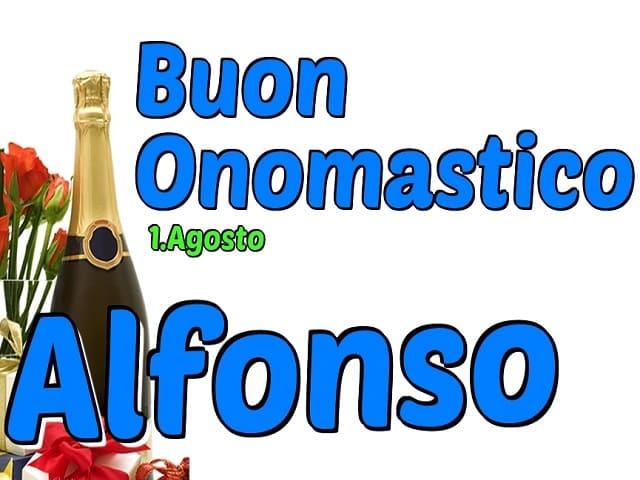 auguri onomastico Alfonso