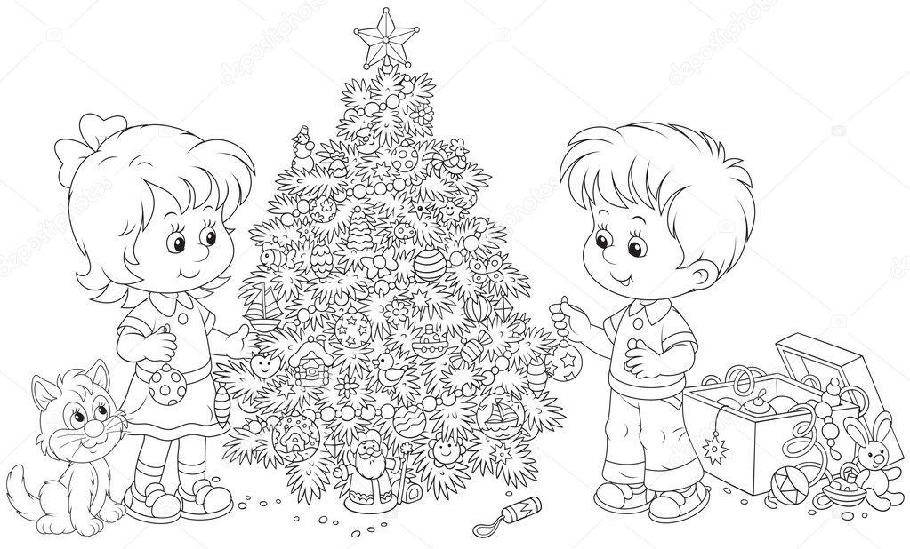 bambini albero di natale (2)