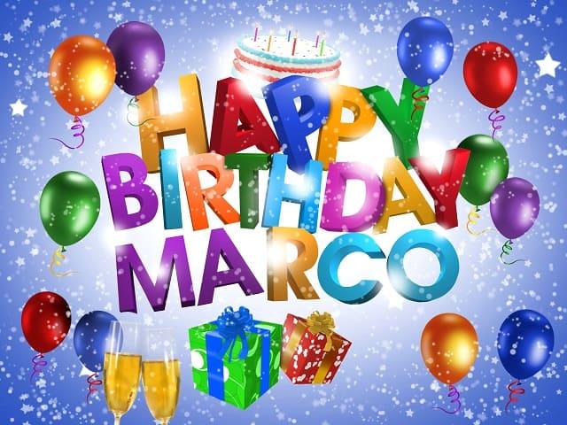 Buon compleanno Marco