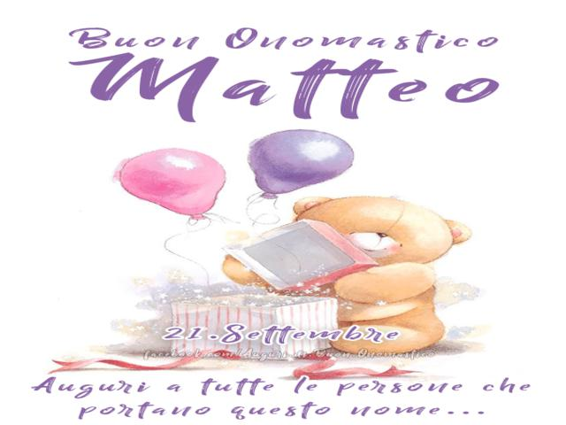 buon onomastico Matteo