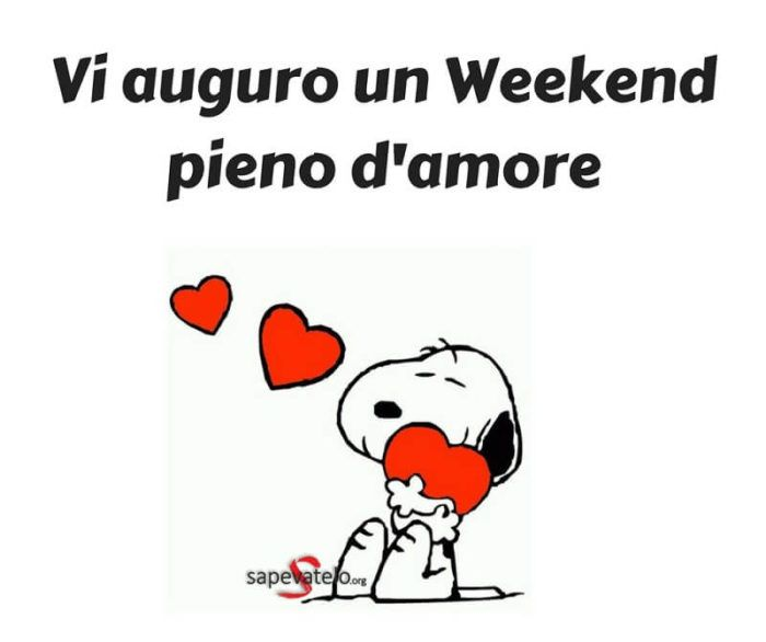 buon weekend snoopy