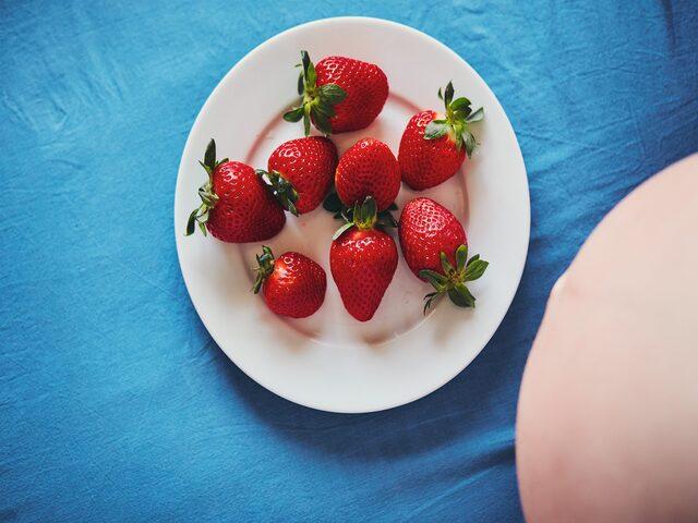 le fragole in gravidanza