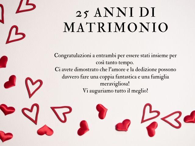 Frasi Anniversario Matrimonio 25 Anni Spiritose.25 Anni Di Matrimonio Frasi E Immagini Per Le Nozze D Argento A