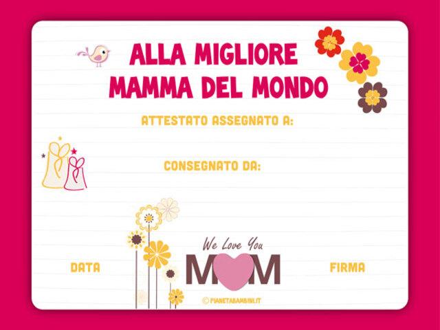 Diploma Festa Della Mamma 11