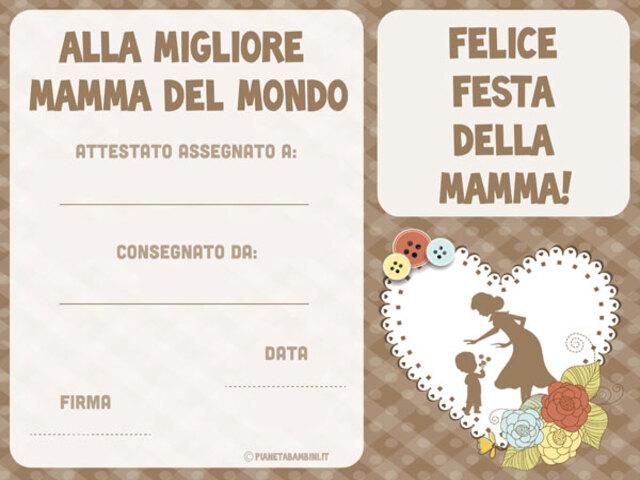 Diploma Festa Della Mamma 12