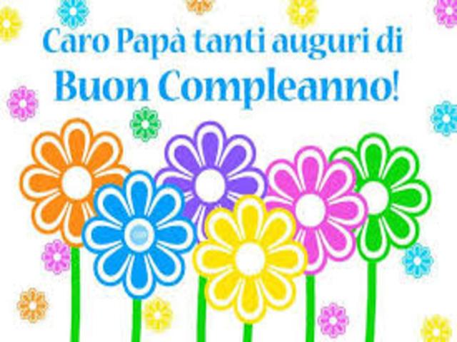 auguri papà compleanno