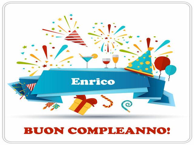 Tanti Auguri Di Buon Compleanno Enrico Cartoline Di