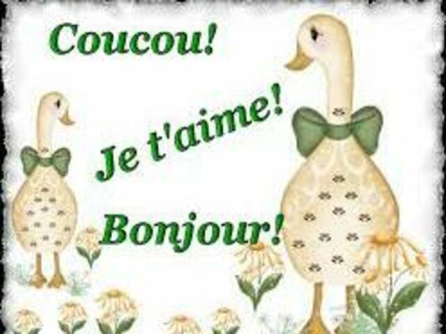 buongiorno amore in francese