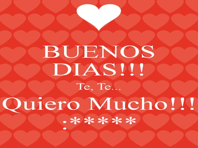 buongiorno amore mio spagnolo