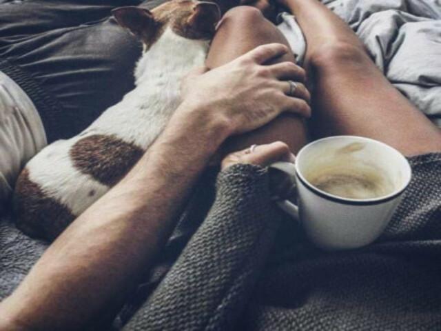 buongiorno innamorati a letto foto