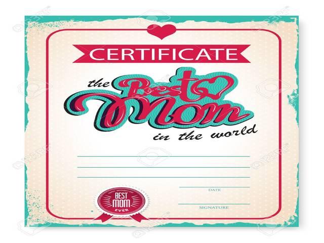 diploma congratulazioni per la festa della mamma