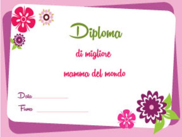 diploma di super mamma