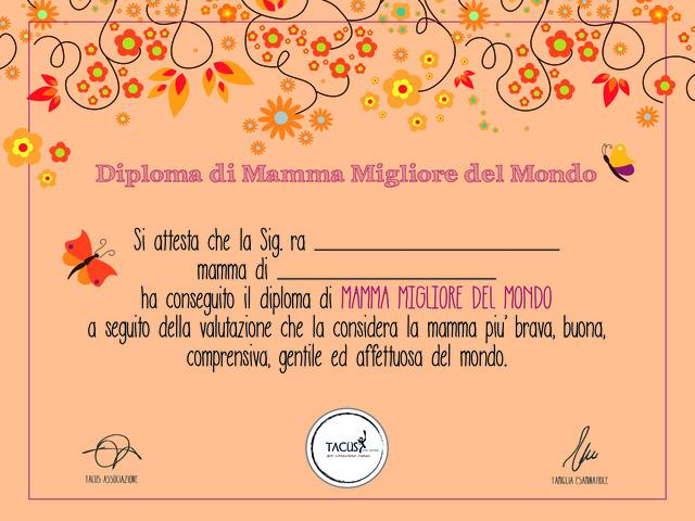 diploma mamma auguri