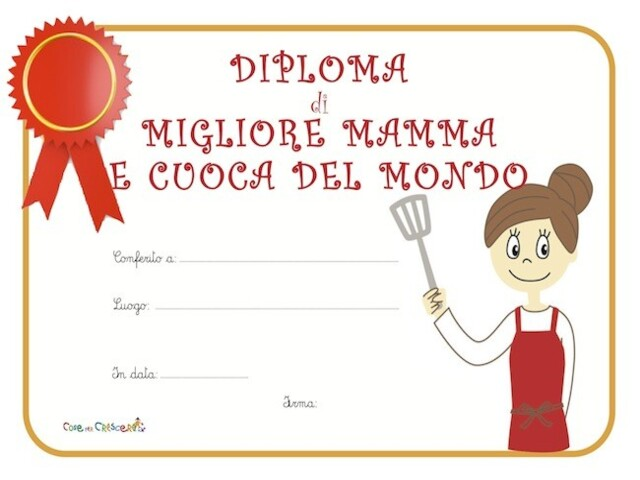 diploma mamma cuoca