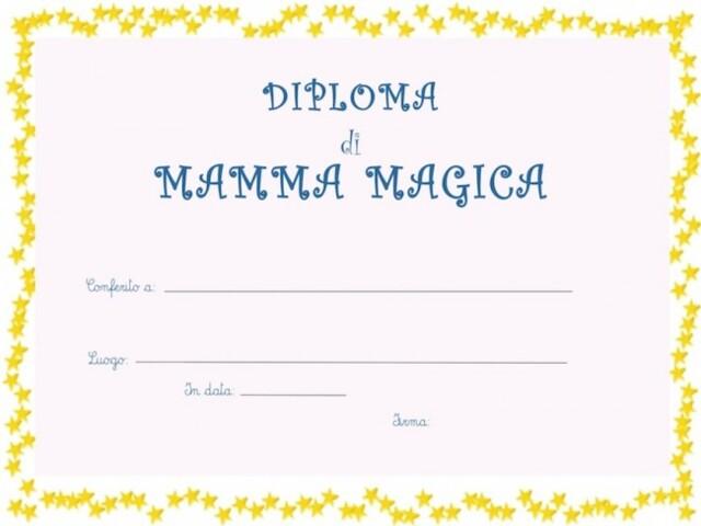 diploma mamma magica