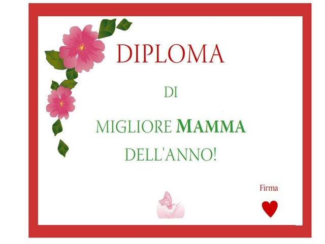 diploma mamma migliore