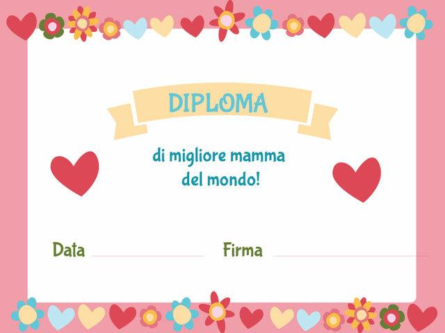 diploma per mamma