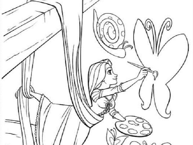Disegni Da Colorare Minions On Line.Rapunzel 68 Disegni Da Stampare E Colorare A Tutto Donna
