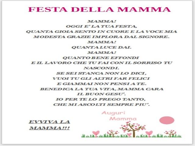 festa della mamma poesia