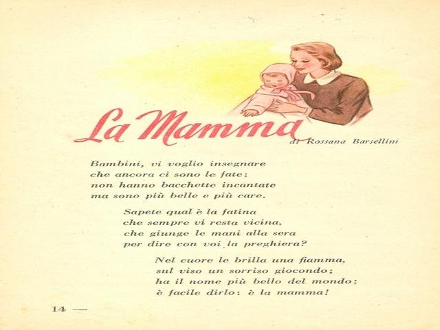 per la mamma poesia