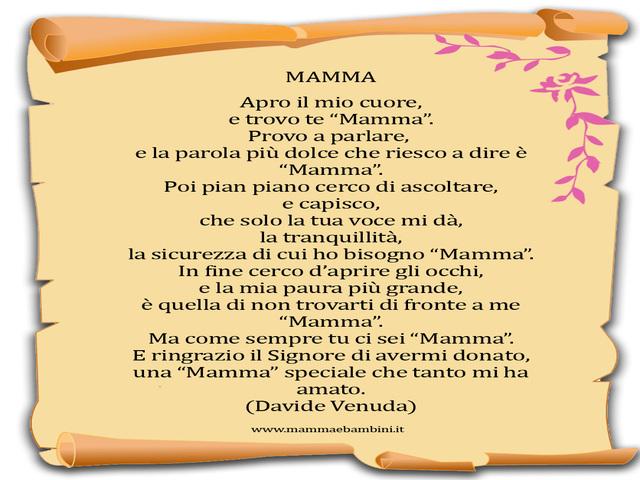 poesia per una mamma