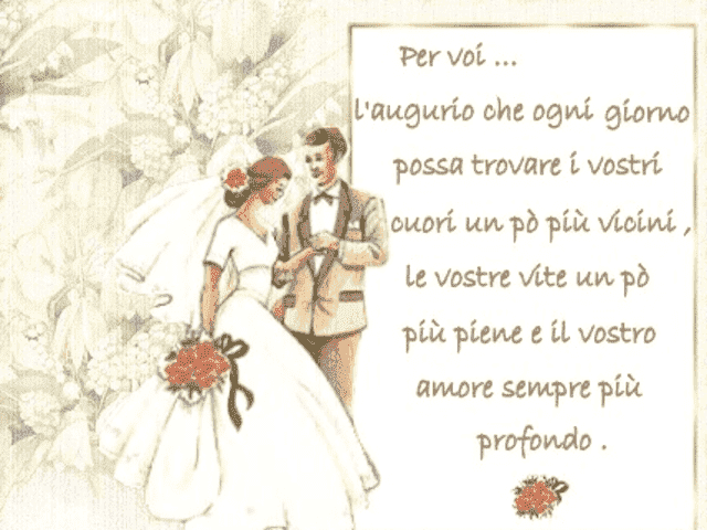 poesie matrimonio foto