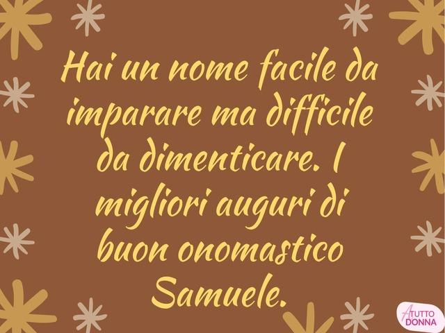 samuele significato