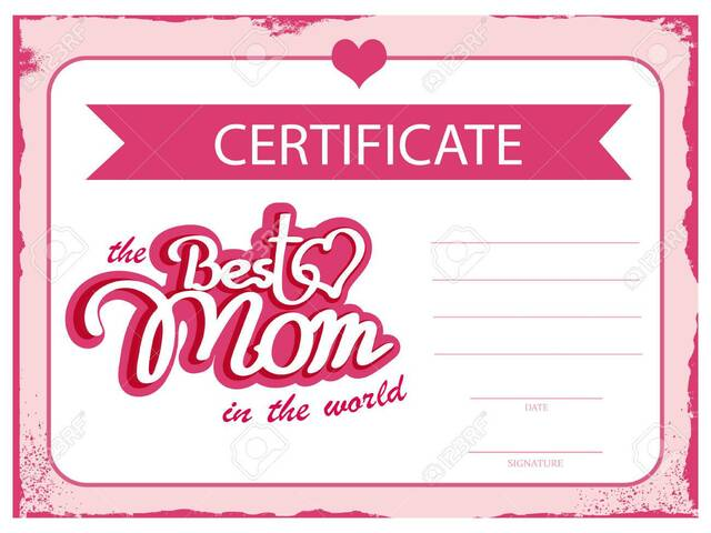 the best mom certificate