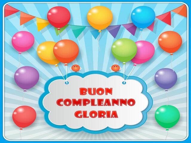Buon Compleanno Gloria 1