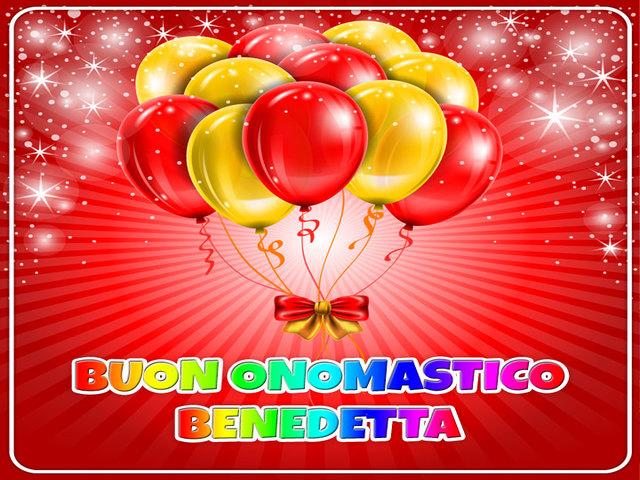 Buon Onomastico Benedetta 01