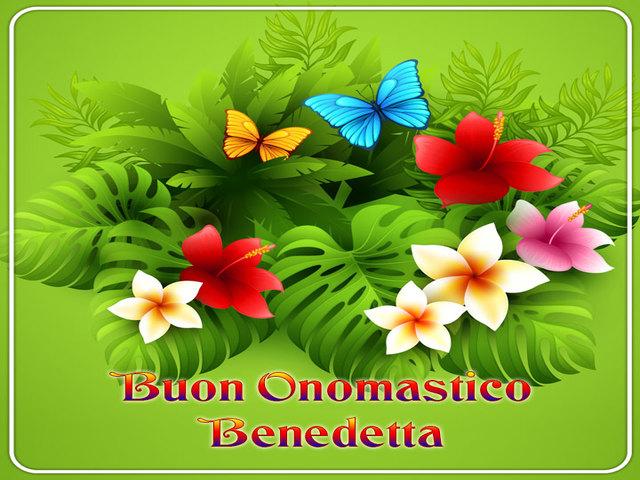 Buon Onomastico Benedetta 03