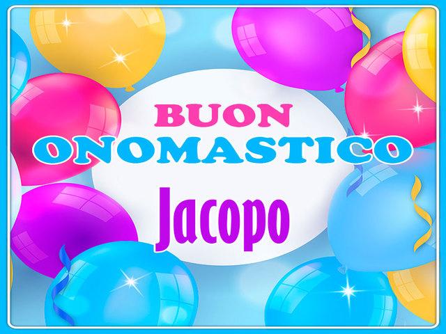 Buon Onomastico Jacopo 1