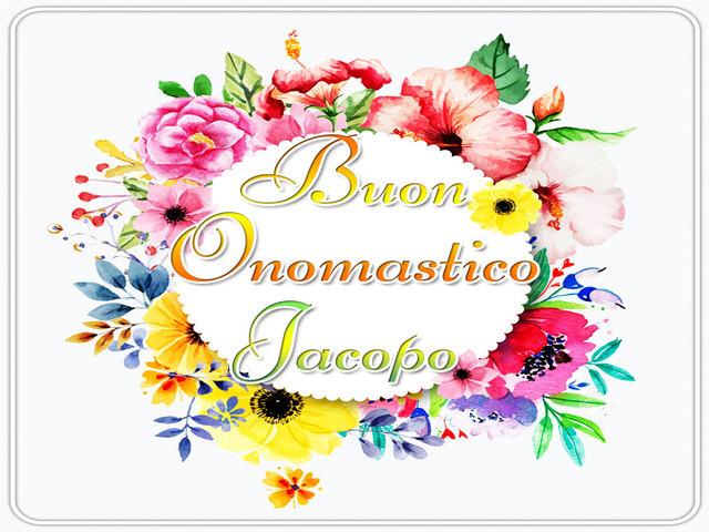Buon Onomastico Jacopo 6
