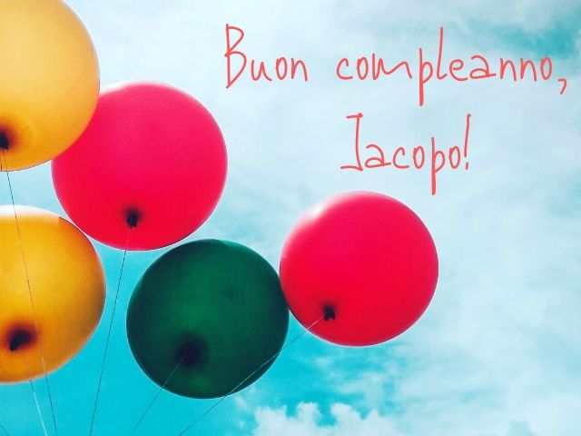 buon compleanno Jacopo