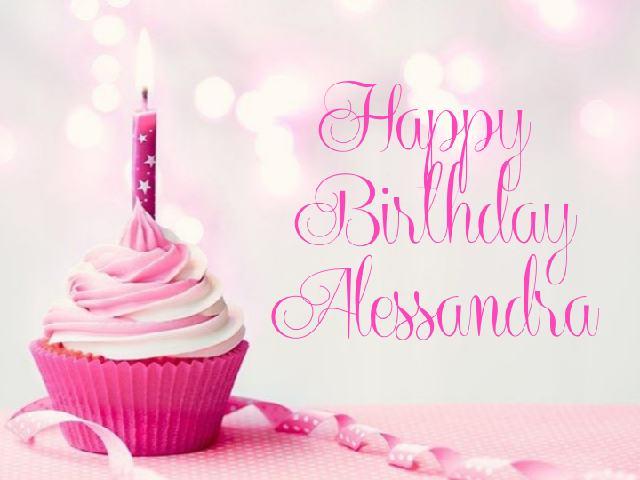 happy birthday Alessandra