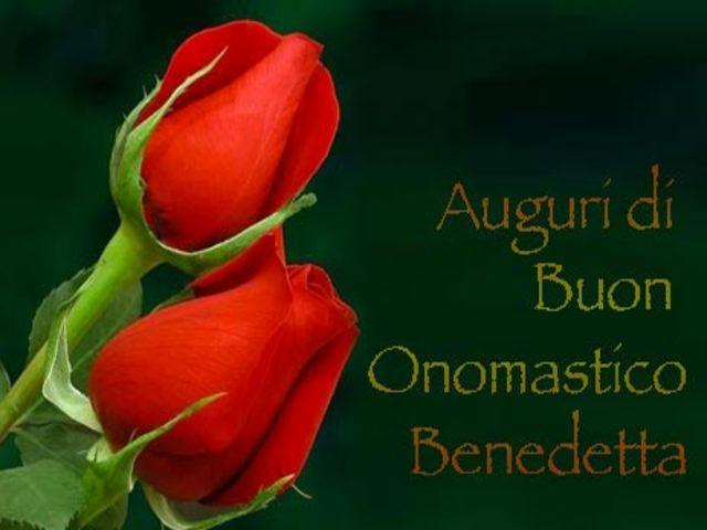 Immagini auguri buon onomastico Benedetta