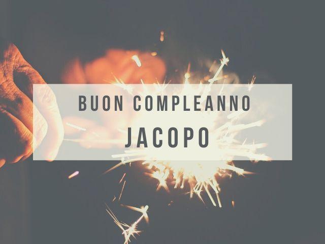 Jacopo buon compleanno