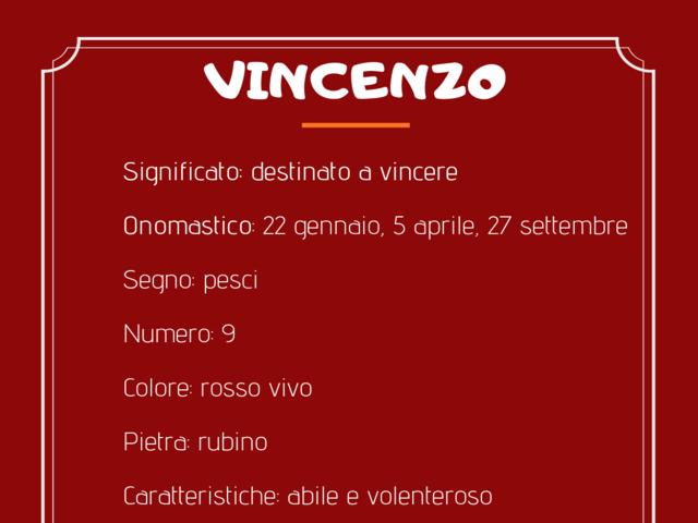 Nome Vincenzo foto