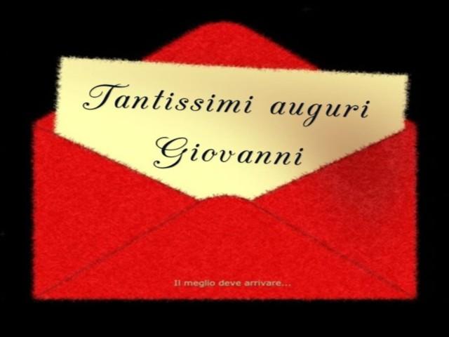 Tantissimi auguri Giovanni foto