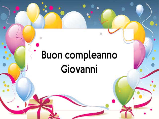 auguri Giovanni foto