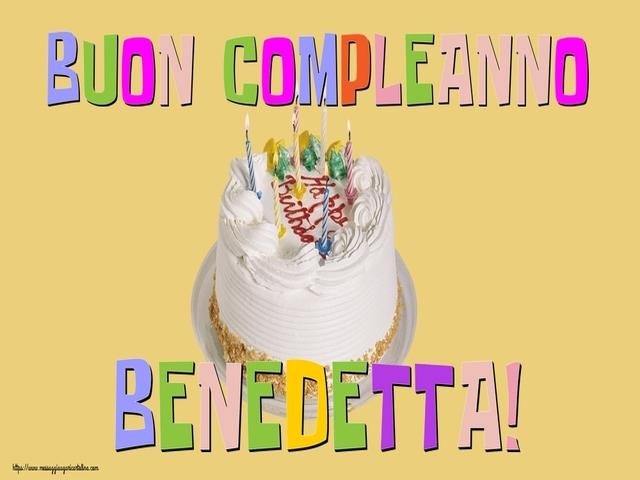 buon compleanno benedetta 1