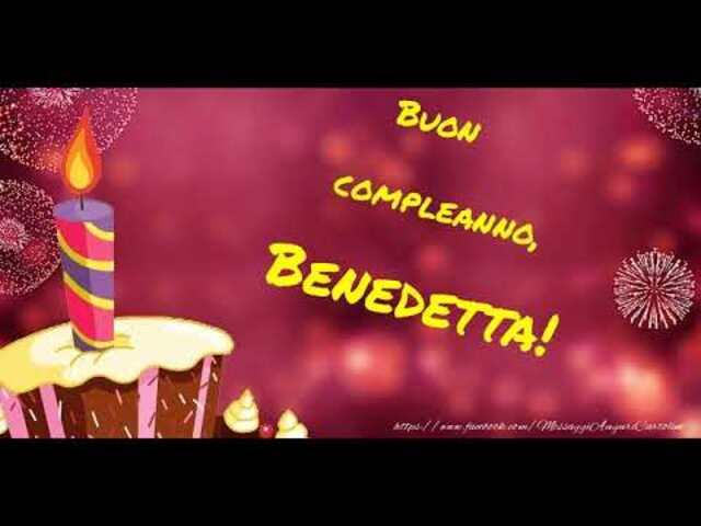 buon compleanno benedetta 8
