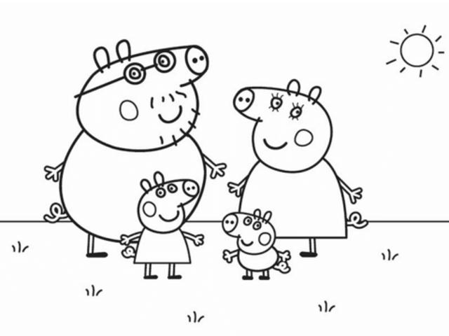 Disegno Di Peppa Pig Da Colorare.Peppa Pig 72 Disegni Da Stampare E Colorare A Tutto Donna
