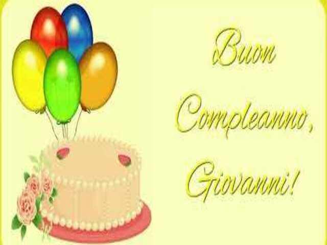 giovanni torta compleanno foto