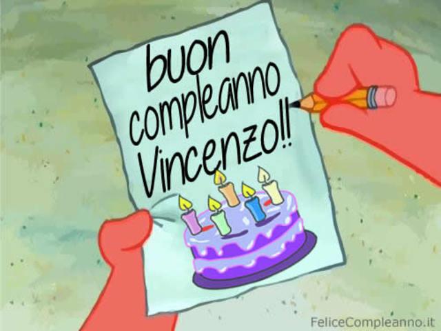 immagine buon compleanno Vincenzo
