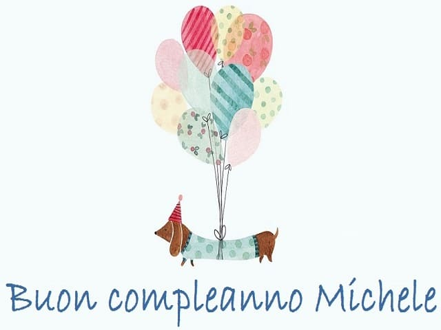 immagini buon compleanno michele