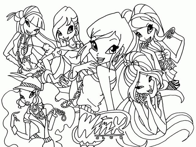 Winx 150 Disegni Da Stampare E Colorare A Tutto Donna
